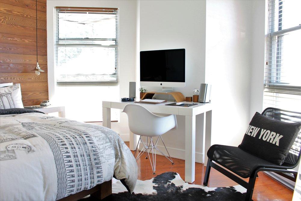 Photo: Gabriel Beaudry dorm room desk bed kids room plus online interior design for kids