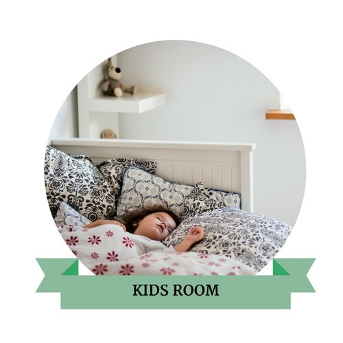 child sleeping on bed kids room package online interior design process chicago