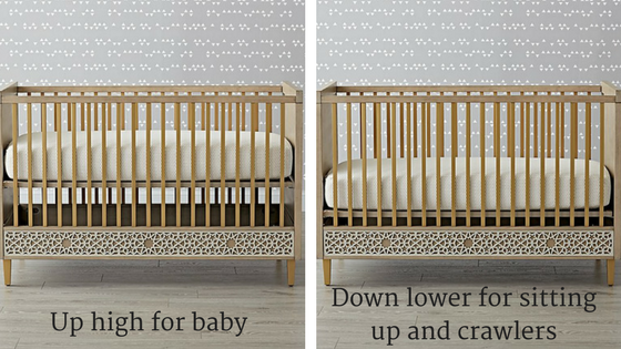 Genevieve Gorder Latticework Grey Crib