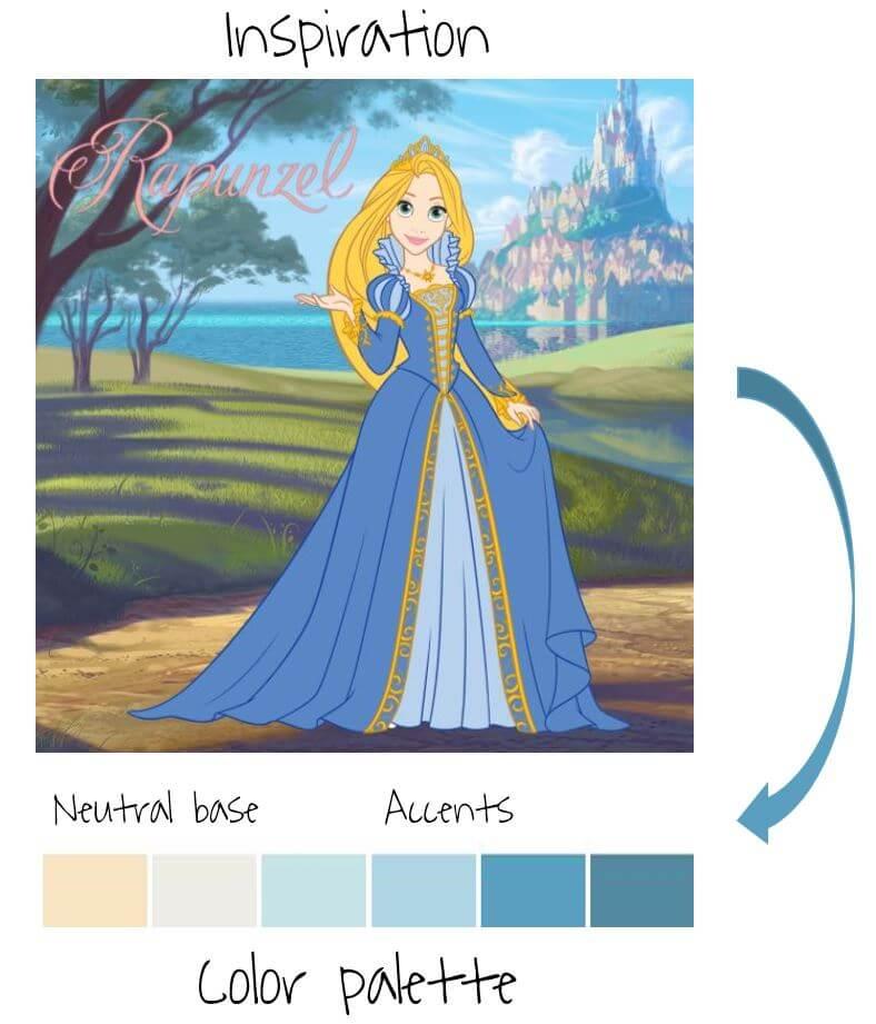 princess theme blog color palette