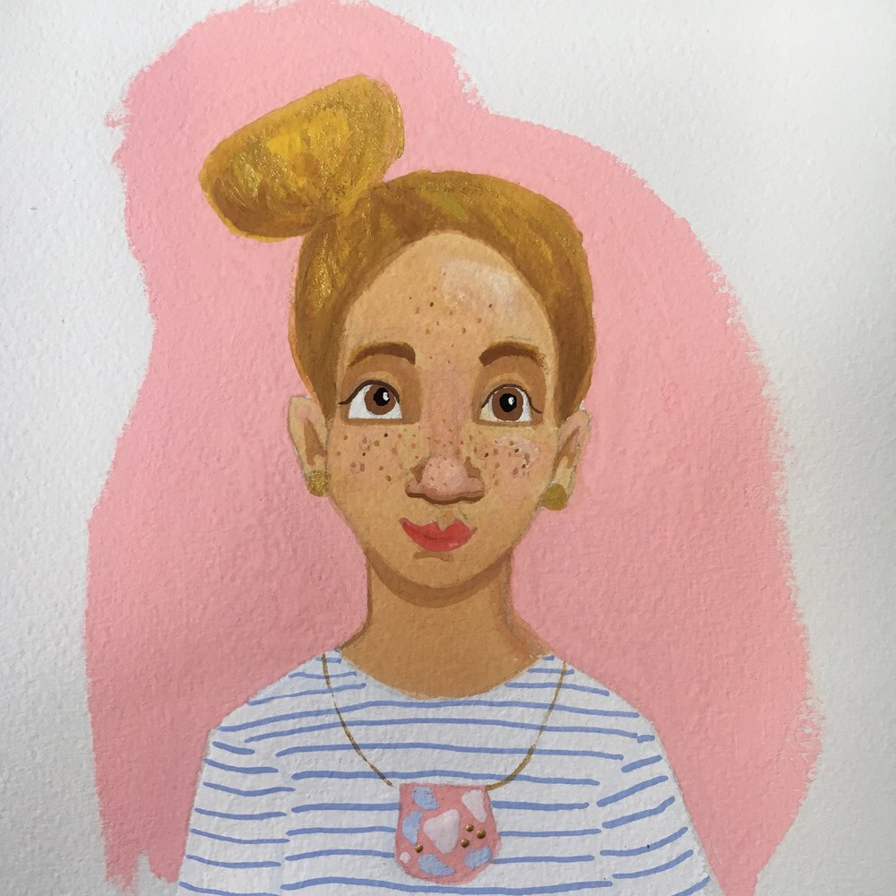 Gouache Self Portrait