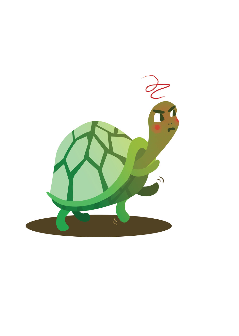 Young Turtle for kindergarten Emotional literacy Project