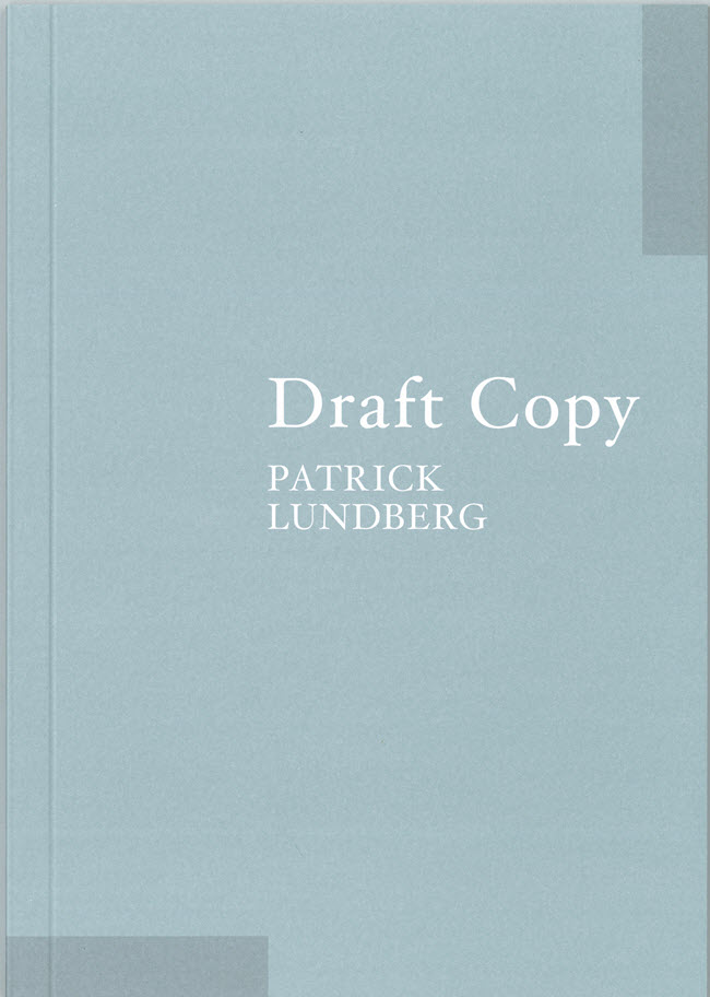 Patrick Lunberg  Draft Copy  $20.00  Email   enquiries@ivananthony.com   to purchase