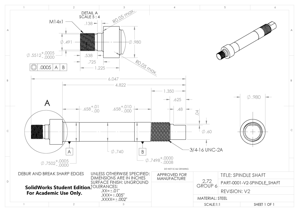 Part Drawings for Machining