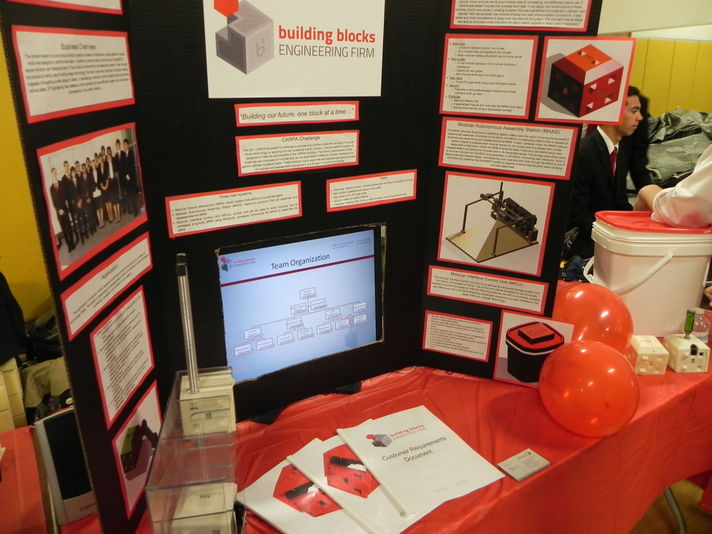 Our final product and presentation was displayed at an end-of-the-year engineering fair.