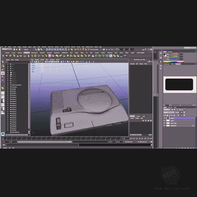 I was going through some old videos and found this time-lapse of me modeling a Sega Genesis (Mega Drive). Sloppy Guerilla prop making at its best. I used any techniques that were fast and textured with just one planar map. STILL overkill considering how it was used in the final image... #sega #environmentart #cgart