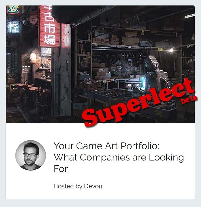Here's something new! Teaming up with @superlect to talk about what game companies are looking for in an art portfolio and how you can step up yo portfolio game. Check the link in my bio for more info.  #gameart #gameartist #cgart