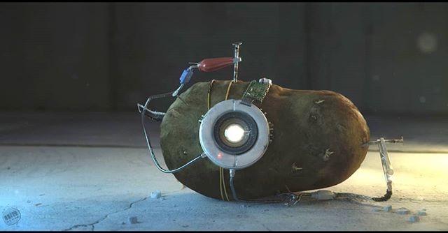 This one time, I spent weeks making a potato....I must not have had a lot going on.  #cgart #cg #potato #glados