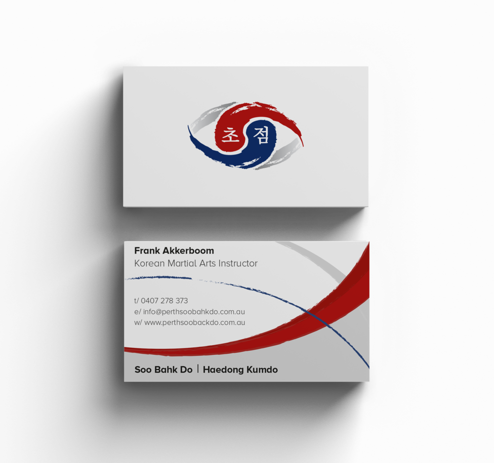 Business Cards_Branding_TMK Graphics_So Bahk Do_Logo