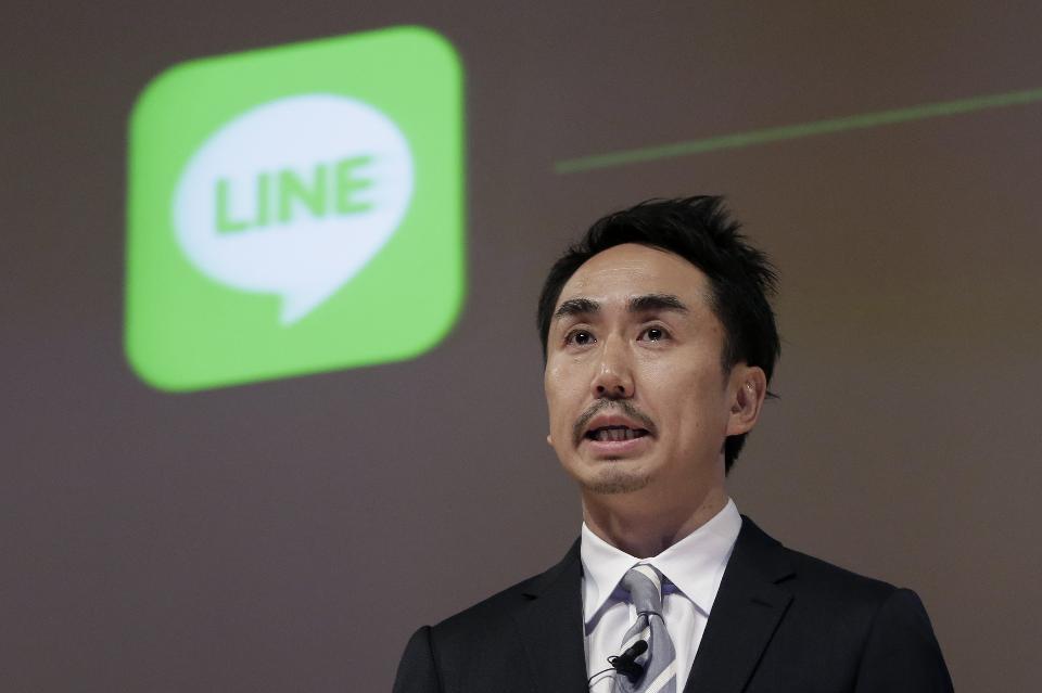 International ambitions -Takeshi Idezawa, CEO of Line Corp. (Photo- Kiyoshi Ota/Bloomberg)