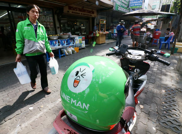 Line Man moves into stage three - lifestyle solutions. Image credit -asia.nikkei.com