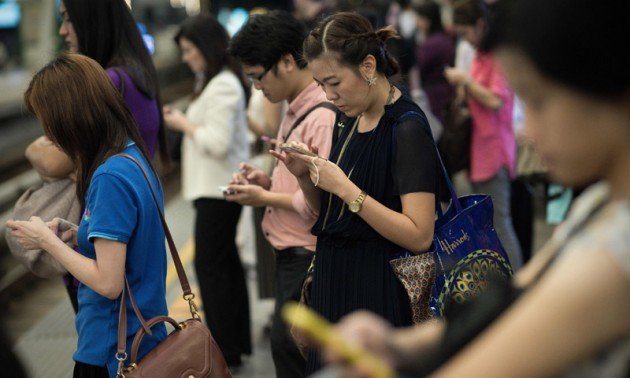 The world's no.1 mobile users are in Thailand.