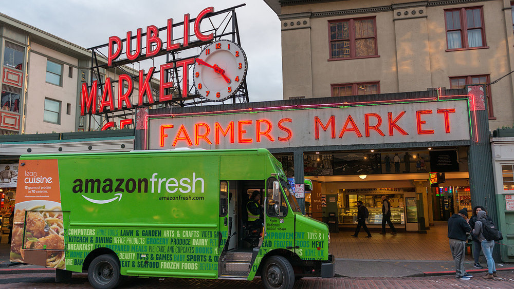 Amazon Fresh delivery truck