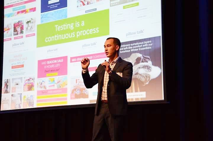 Luke Harrison presenting at the Email Marketing Summit Australia, October 2015