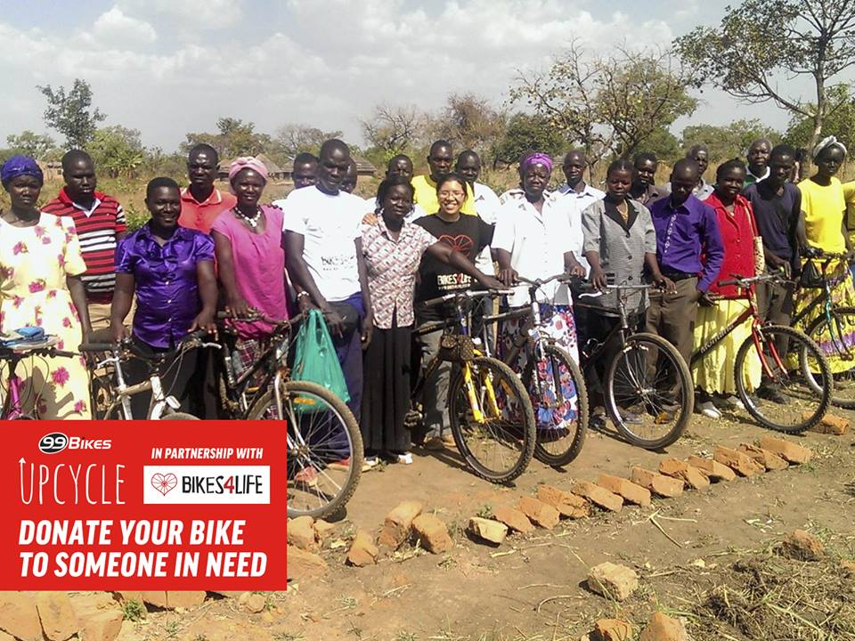 99 bikes donates old bikes to people in the developing world. Image credit - facebook.com/99bikes