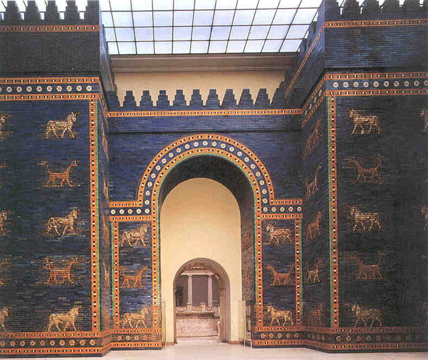 Ishtar Gate (entry into Babylon, Nebuchadnezzar's Palace), on display in the Pergamon Museum in Berlin