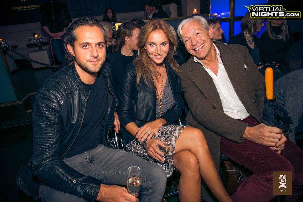 Moderatorin Caroline Beil mit ihrem Lebensgefährten und Jo Gröbel