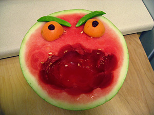 angry watermelon