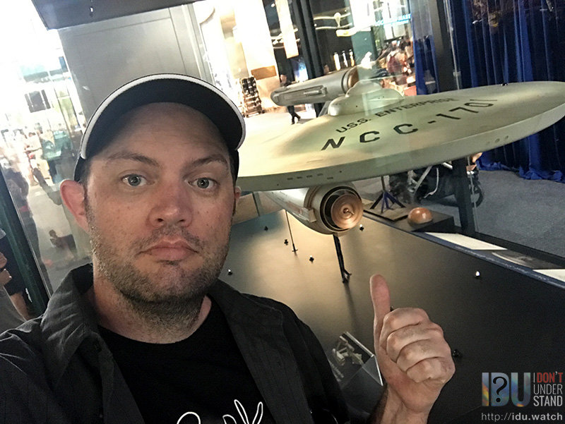 While I didn't get to visit the shuttle Enterprise, OV-101 (which is on the Intrepid aircraft carrier in New York), I did get to see the USS Enterprise, NCC-1701, which is a perfectly acceptable substitute.