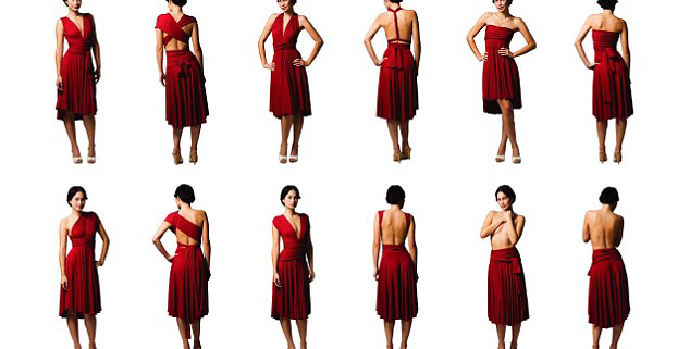Multi-dress: One dress, six distinct styles.
