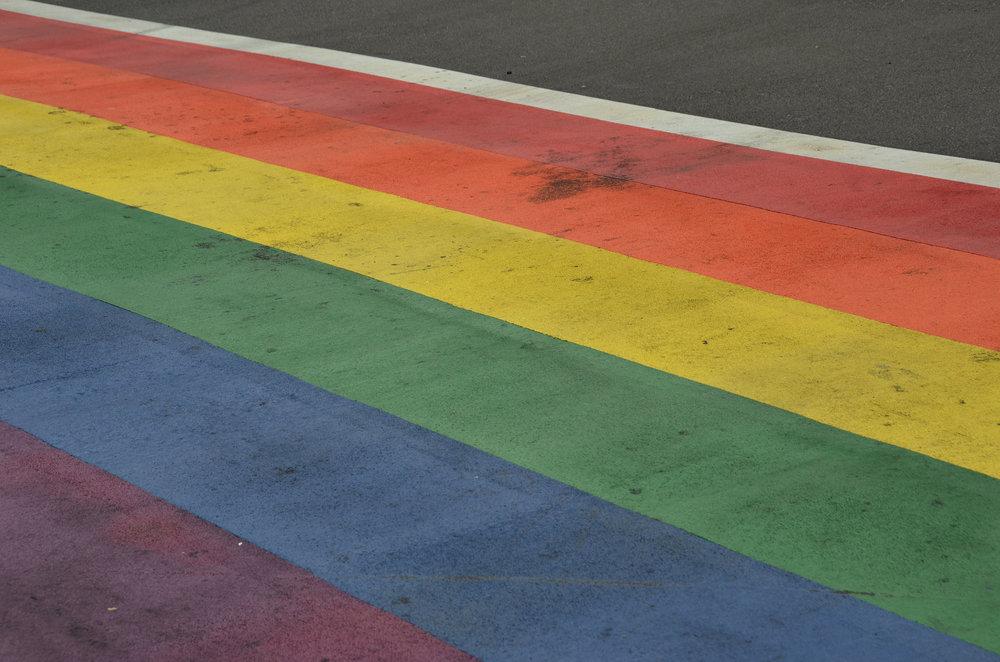 Rainbow Painted Roads ©2015,Rob Bertholf