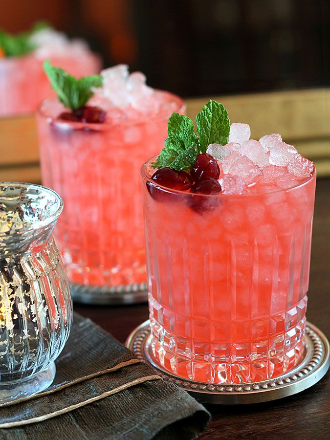 Cranberry ginger fizz (image courtesy of  creative culinary )