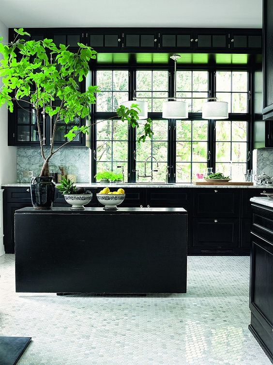 MARIANNE BRANDI'S STYLISH BLACK KITCHEN