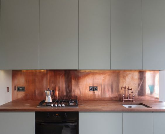 COPPER BACKSPLASH BY FERRUMETAL