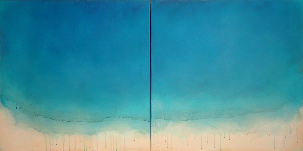 "Silent Search - No. 25, 2015, acrylic on canvas, 24"" x 48"""