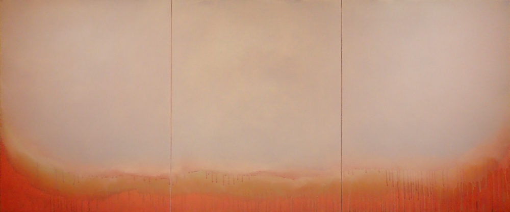 "Silent Search - No. 38, 2015, acrylic on canvas, 28"" x 66"""