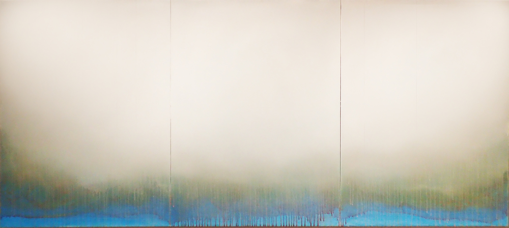 "Silent Search - No. 40, 2015, acrylic on canvas, 40"" x 90"""