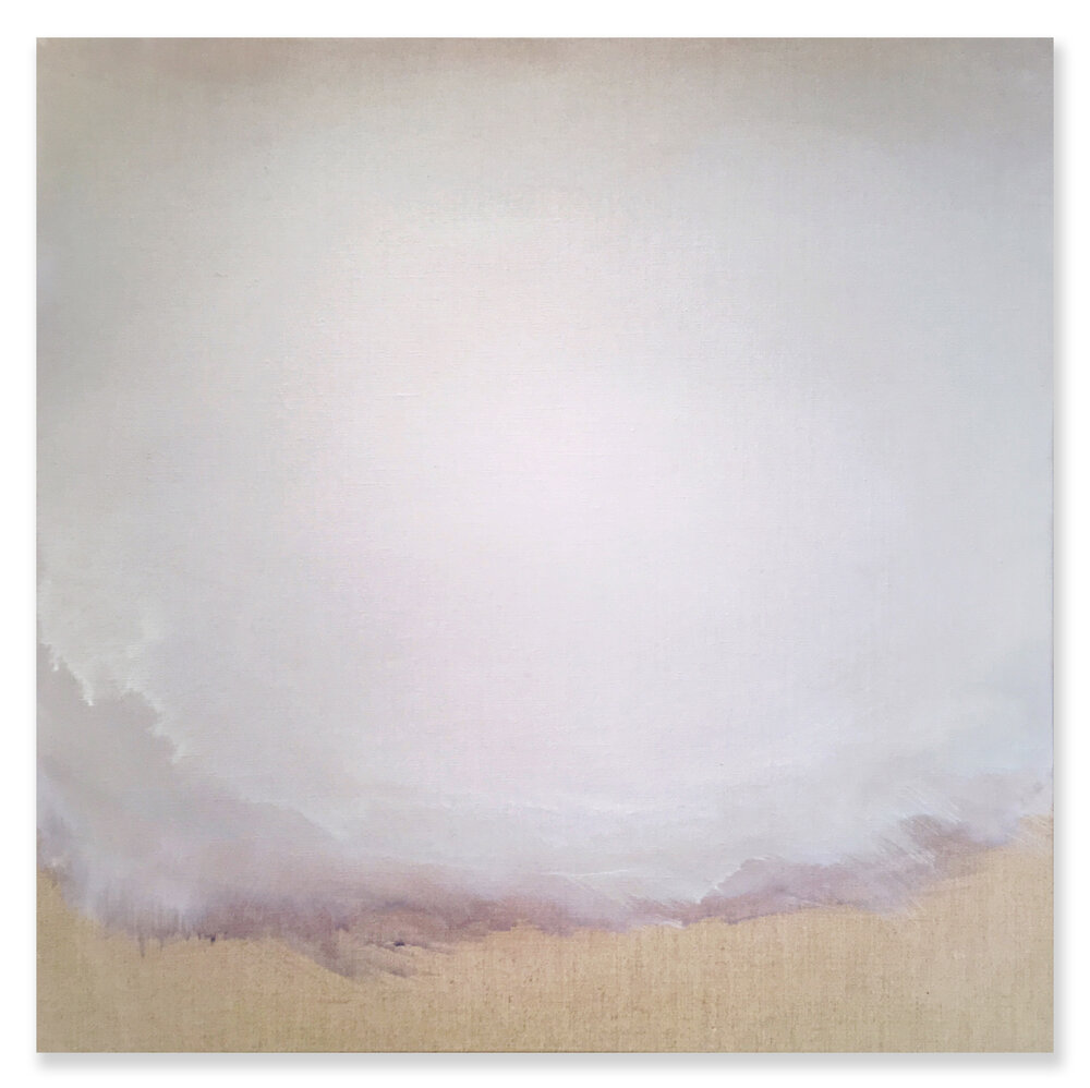 "Untitled Linen - No. 1, 2016, acrylic on linen, 24"" x 24"""