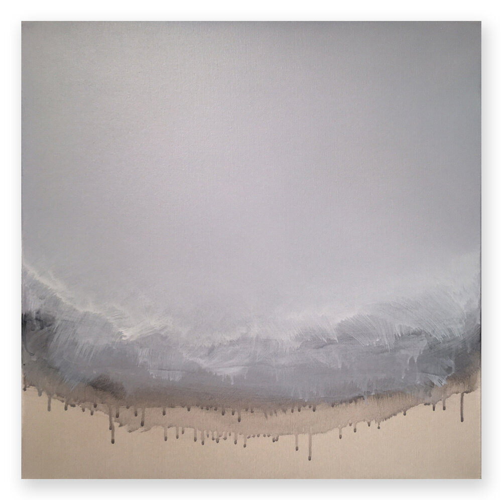 "Untitled Weather - No. 1, 2016, acrylic on canvas, 24"" x 24"""