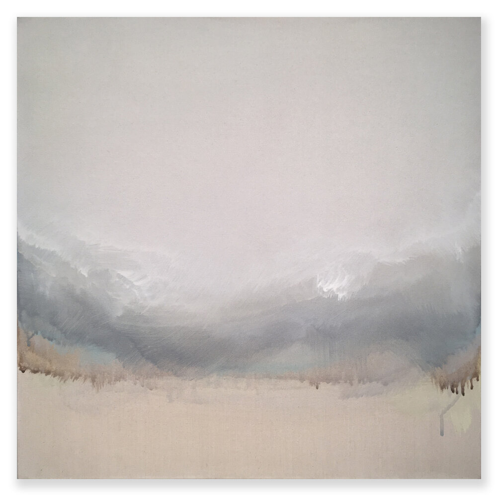"Untitled Weather - No. 7, 2017, acrylic on canvas, 24"" x 24"""