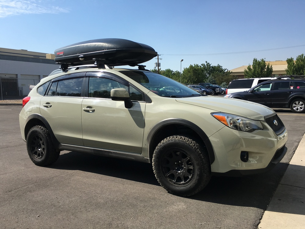 "Subaru XV Crosstrek 1"" lift with Method Race Wheel Combo, when you need just a little extra clearance for those weekend adventures."