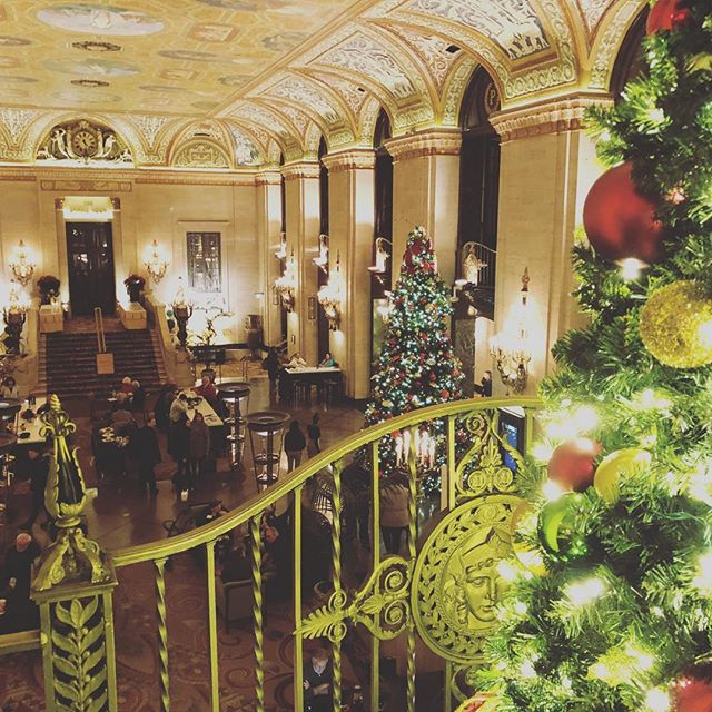 Holidays in Chicago, The Palmer House is festive for this one night stopover.