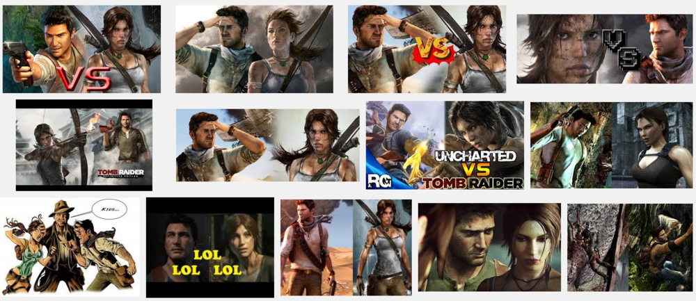 The Google Image search for Uncharted vs Tomb Raider