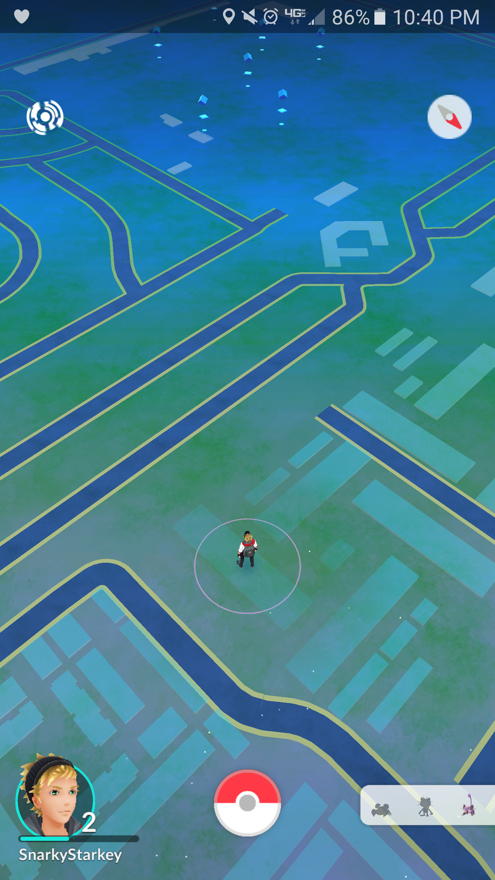 View from my apartment at launch featuring the Pokestops at Green Acres Cemetery.
