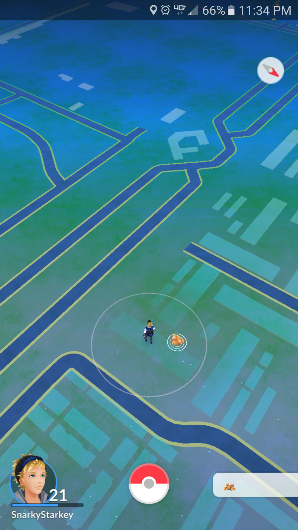 View from my apartment now with Green Acres Pokestop-free.