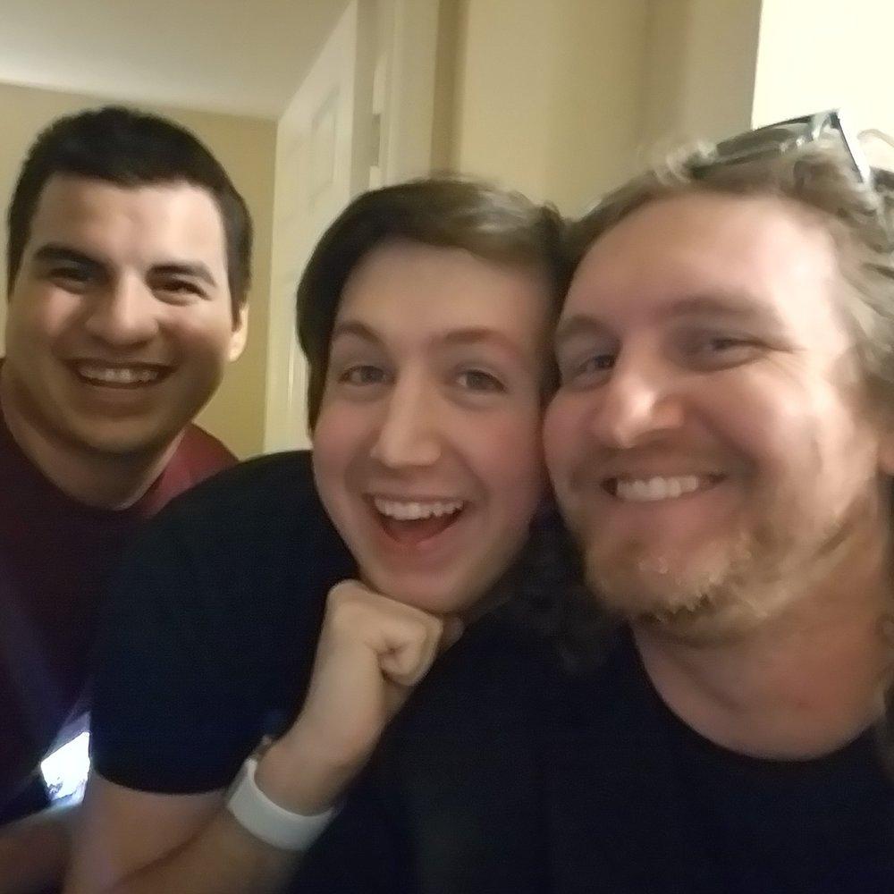 Danny Juarez, Alex O'Neill, and me