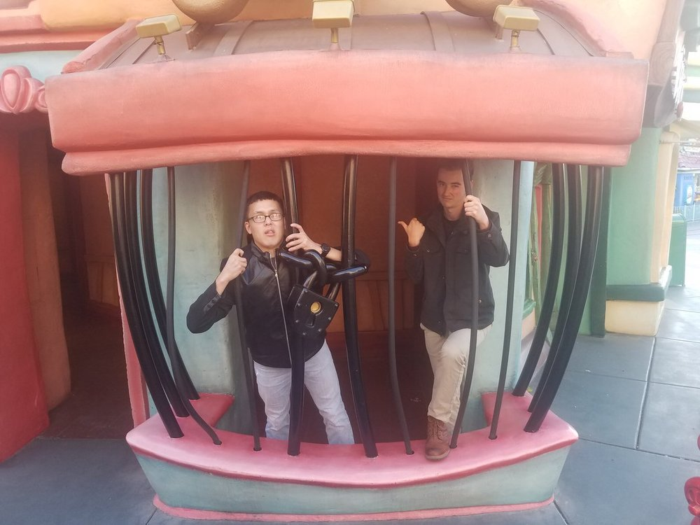Franklin and Ben in Toon Town jail