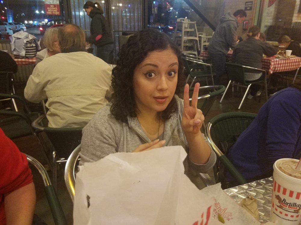 Vanessa at Portillo's