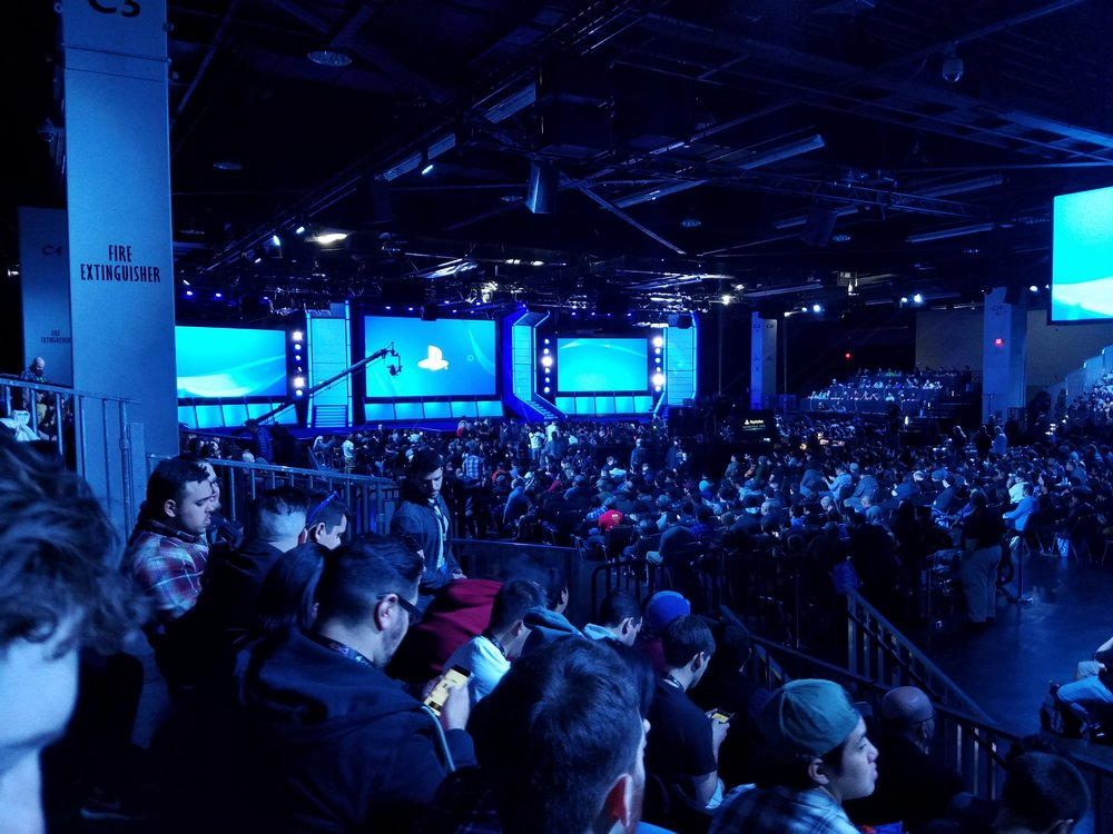 View of the PlayStation Experience Showcase