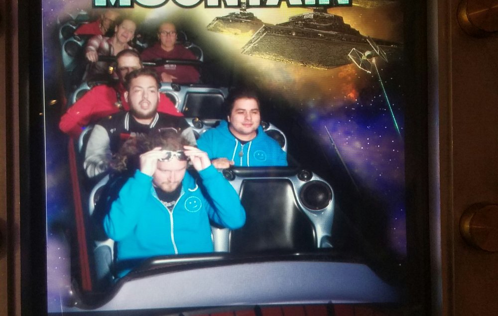 Saving my glasses on Space Mountain