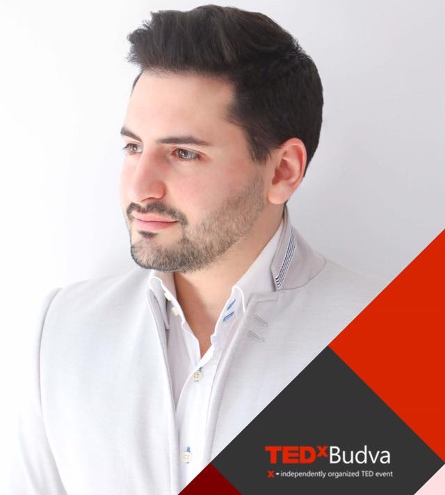 Speaking at TEDxBudva - Hotel Palas in Petrovac, 14 April 2018