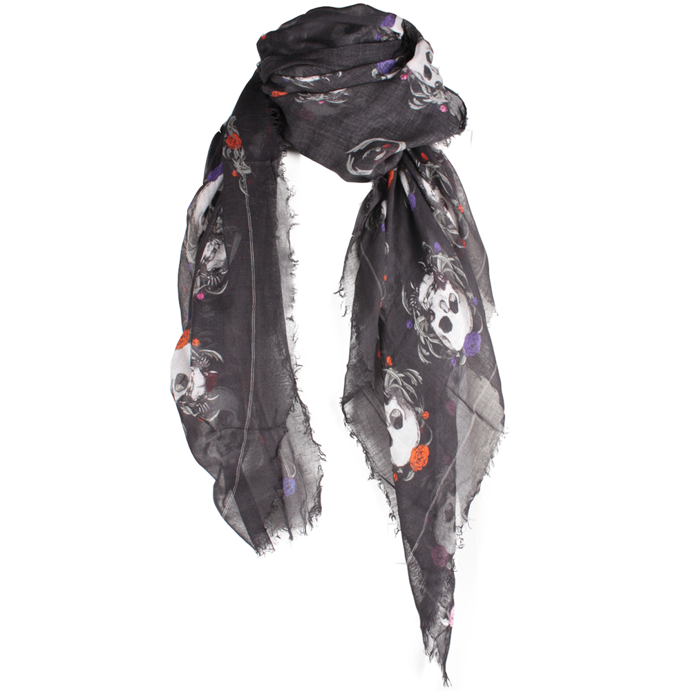 Alexander Mc Queen Skull Scarf