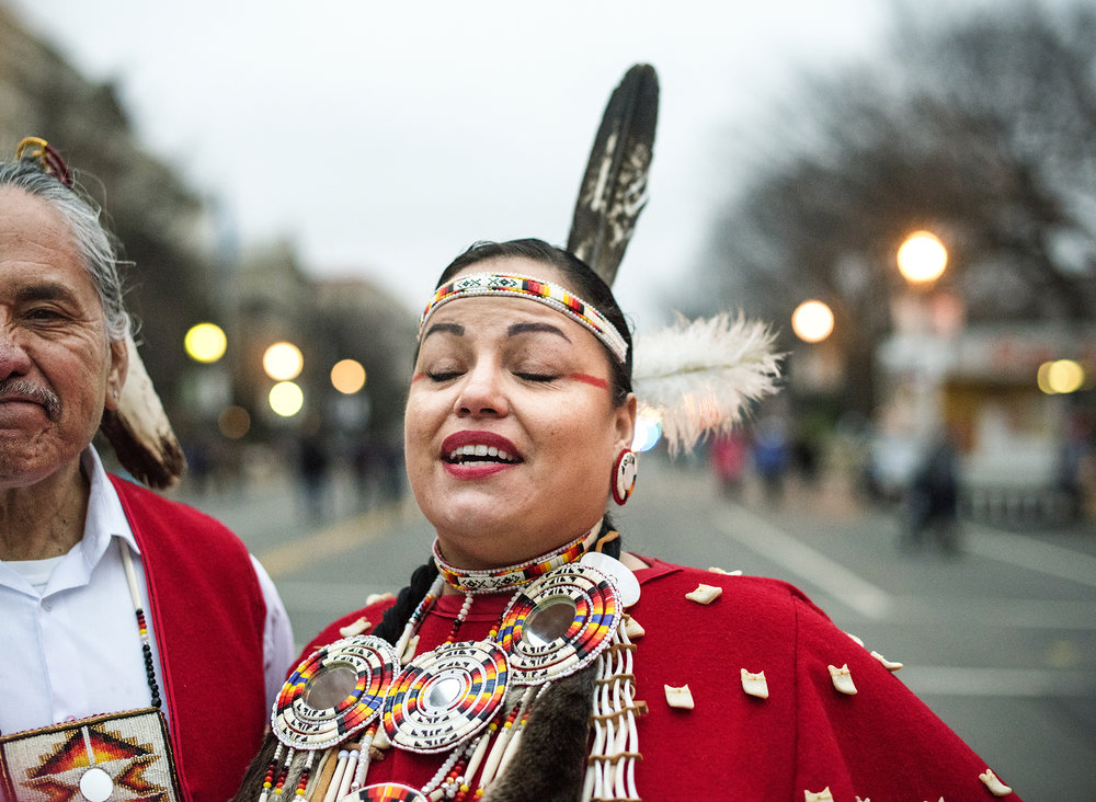 'We march for indigenous women everywhere and for Standing Rock.'