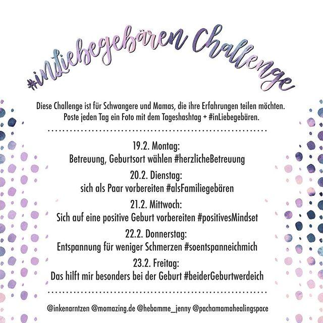 Auf meinem @inkenarntzen Account startet ab nächster Woche die #inliebegebären Challenge. Wer Lust hat dabei zu sein, schaut drüben mal nach. 🙋♀️🤰💫
