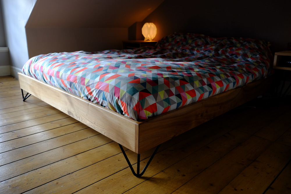 Wych Elm Double Bed