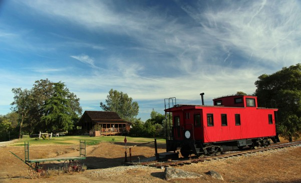 Miller House and Caboose -  PHOTO BY ADAM BLAUERT